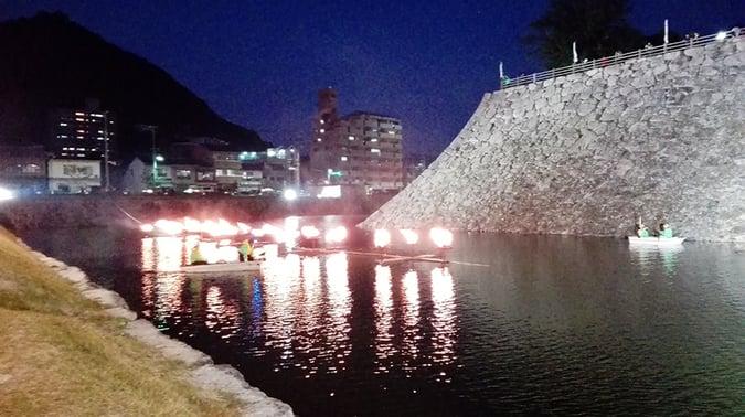 三原城築城450年祭 かがり灯